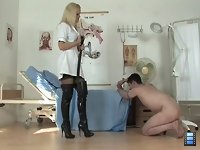 Sadistic Nurse: Her beautiful eyes flash with a sinister fire when she foretastes yet another Torture Session in the hospital. She looks calm, just her nostrils quivers with excitement..