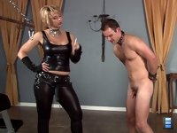 Small Dicked Fuckhole: Goddess Brianna and Mistress Vanessa are totally disgusted by this small dicked excuse of a man slave. He's only worth as a fuckhole for their strapon cocks.