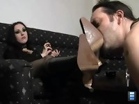 Foot Fetish: And I sat down in front of her on the floor. Her boots were very dusty.