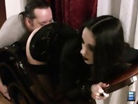 Licking Torment: Tongue! - An order reached him from above. He stood motionless, looking at her tender bald hole..