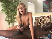 Wife Darcy fucks: The large black man balls-deep in her tight little pussy to her confused and angry husband!