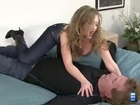 Devotion to My Caviar: At the same time as she is talking to you.. she is putting her own slave through his paces as she smothers him brutally..