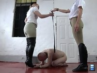 The Crawling Chain: As always, Mistress Jo impedes his work, for which he gets the blame. She's very demanding and severe.