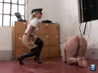 At The Boot Room: Now he's spent the day unable to see and quaking behind his hood at each sound of approaching heels, fearing it's Ashleigh.