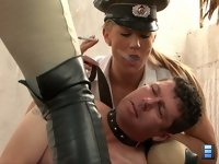 The Point Of Sale: Every newbie male pet should learn the feminine power of his new mistress. He should behave himself properly.